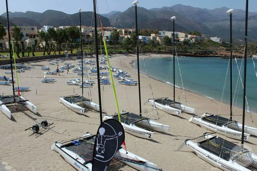sailing boats on the beach