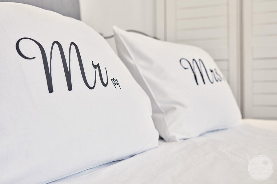 Luxury Rooms with Mr and Mrs pillows