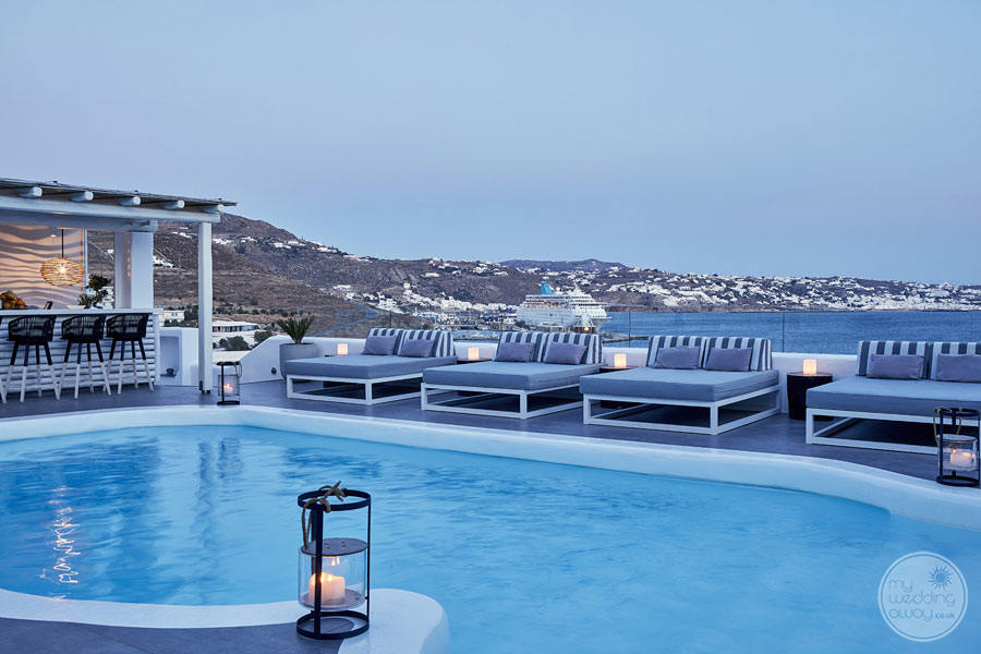 Mykonos Princess Pool Area