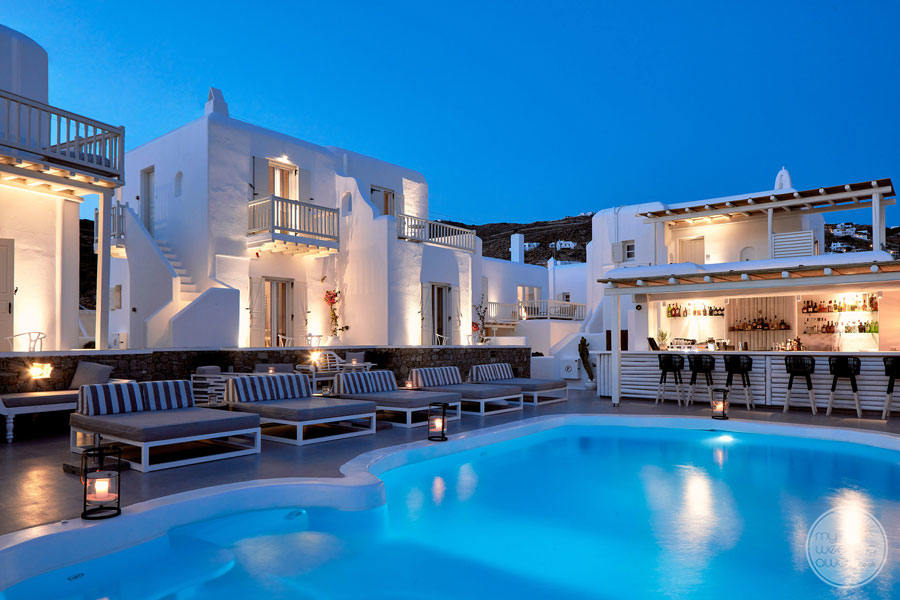 Mykonos Princess Pool and Rooms