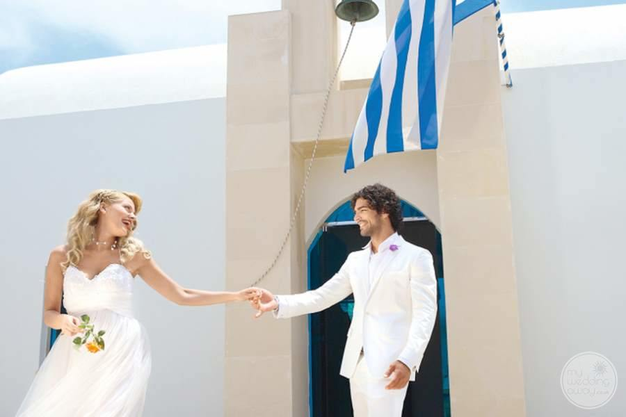 White Palace Bride and Groom