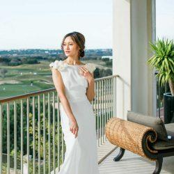Anantara Vilamoura bride on terrace overlooking golf course