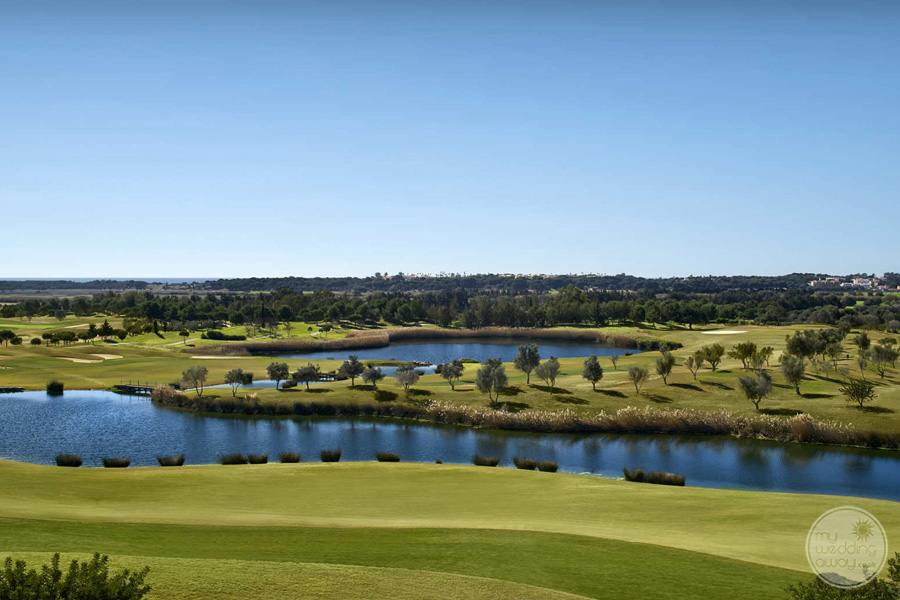 Anantara Vilamoura Golf Course with waterways
