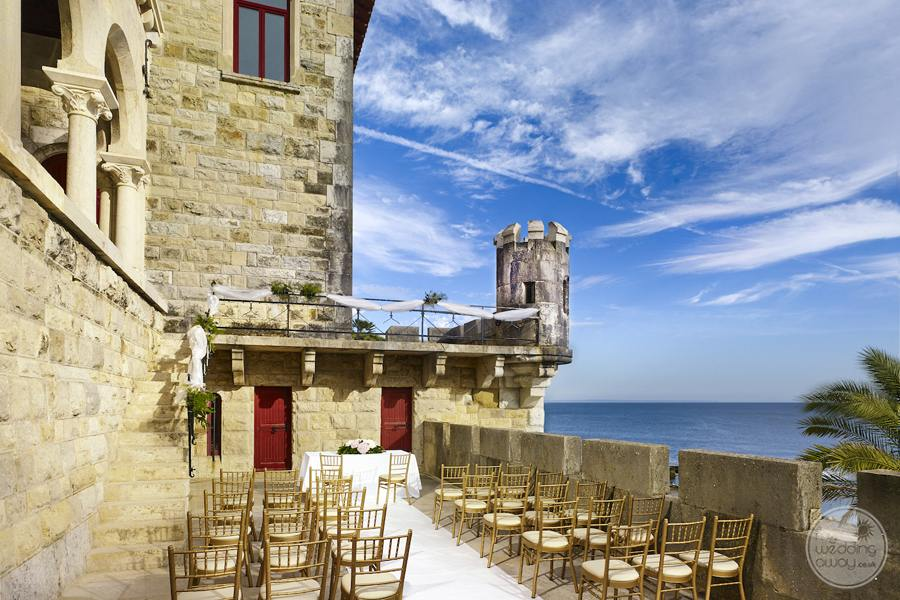 Forte Da Cruz outdoor wedding ceremony