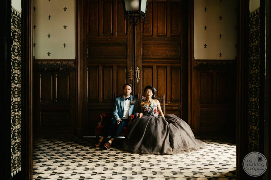 Forte Da Cruz wedding portrait at palace