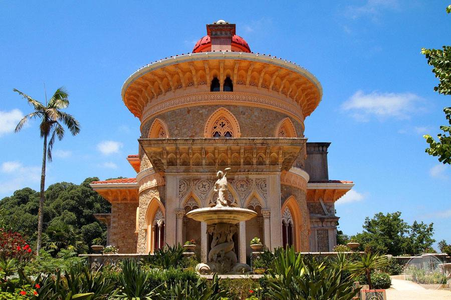Monserrate Palace entrance and gardens