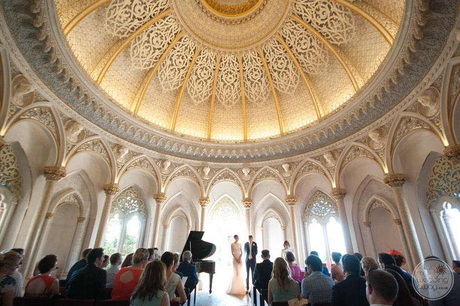 Monserrate Palace wedding ceremony with guests