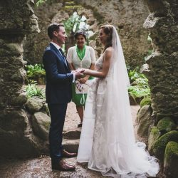 Monserrate Palace wedding ceremony in rock garden