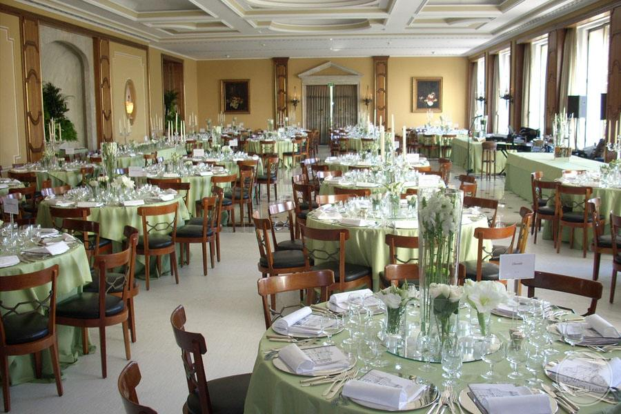 Palacio Estoril Hotel banquet room wedding reception