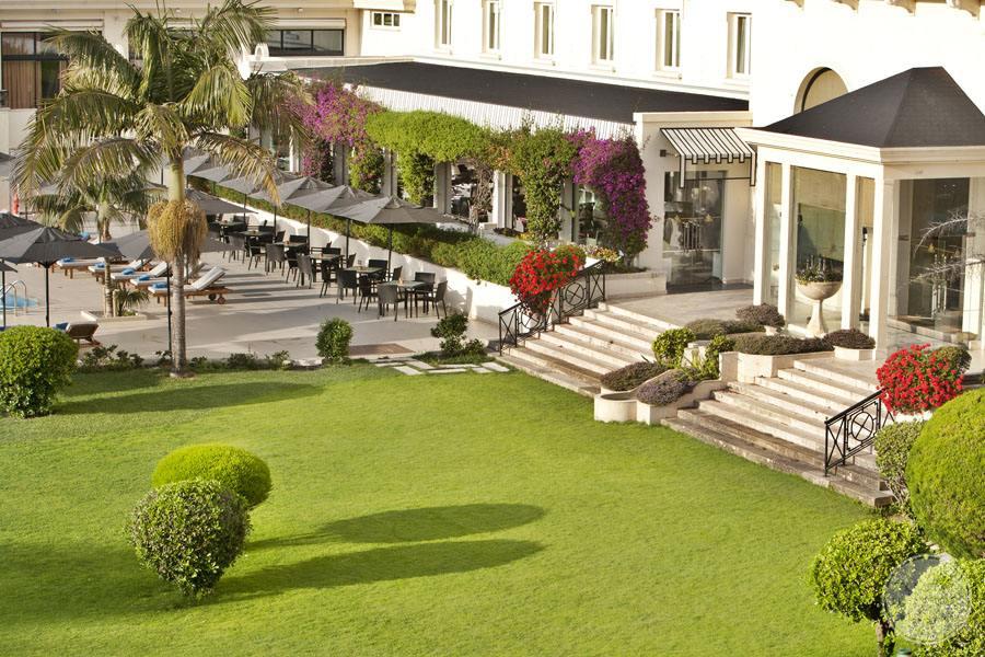 Palacio Estoril Hotel gardens and hotel entrance