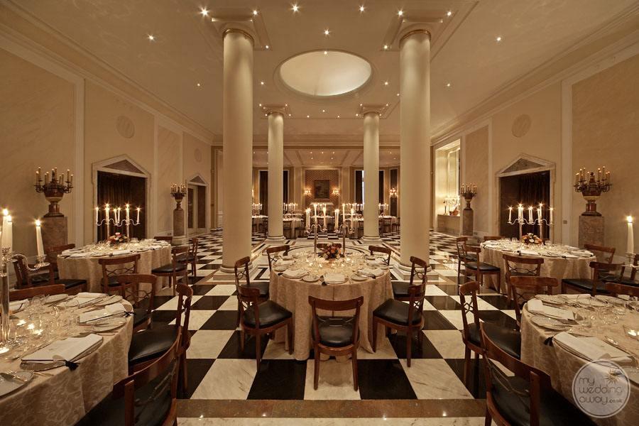Palacio Estoril Hotel ballroom reception set-up