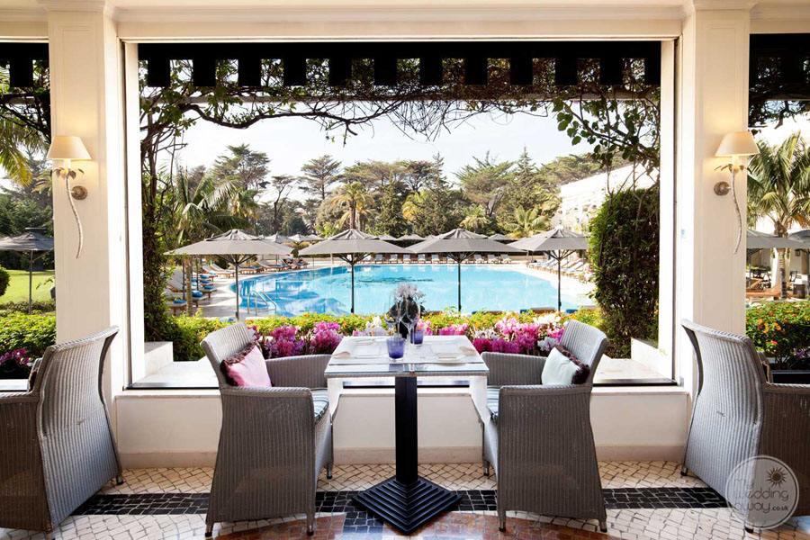 Palacio Estoril Hotel pool view dining