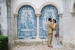 Pena-Palace-exterior-artwork-photo-of wedding-couplel