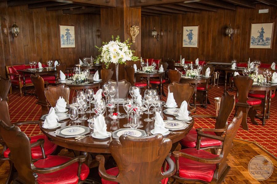 Resort reception venue table setting