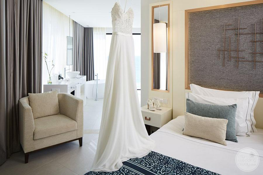 Resort Room with Wedding Dress