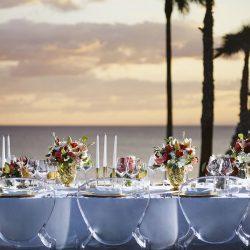 Tivoli Carvoiero Algarve Resort reception set-up table decor