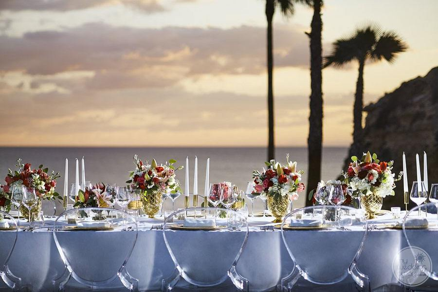 Tivoli Carvoiero Algarve Resort reception set-up table decor