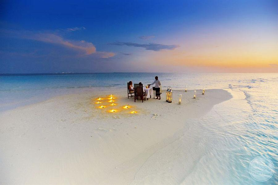Baros Maldives Candlelight Dinner on Beach