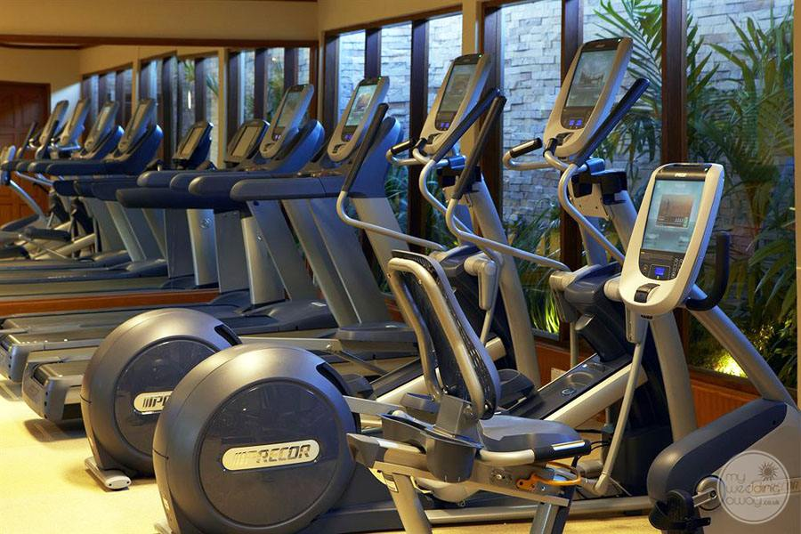 Fitness Center with workout machines