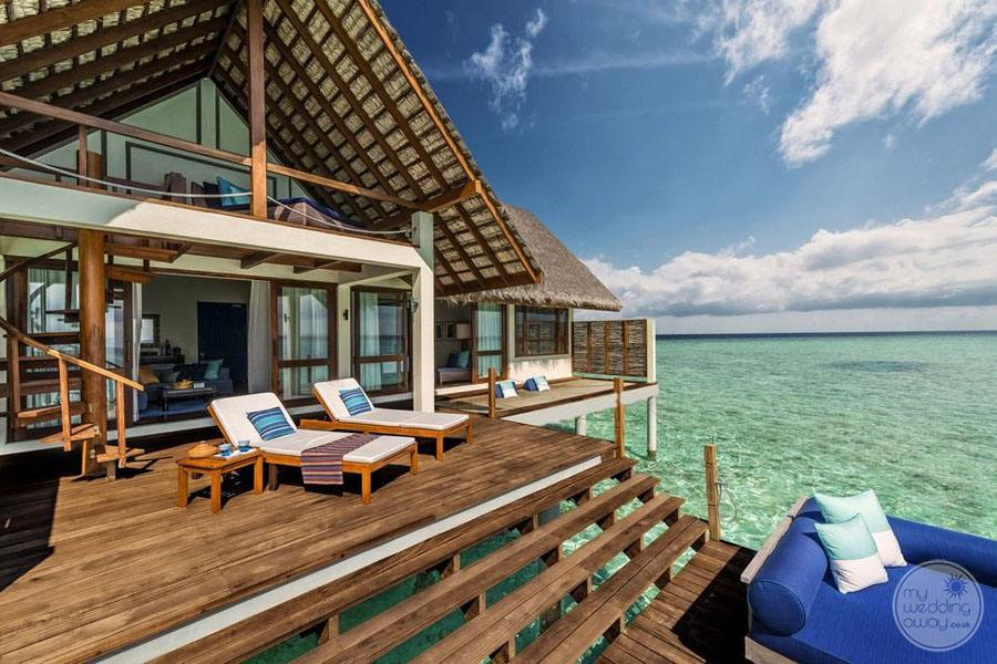 Four Seasons Maldives at Landaa Giraavaru Overwater Lounge Area