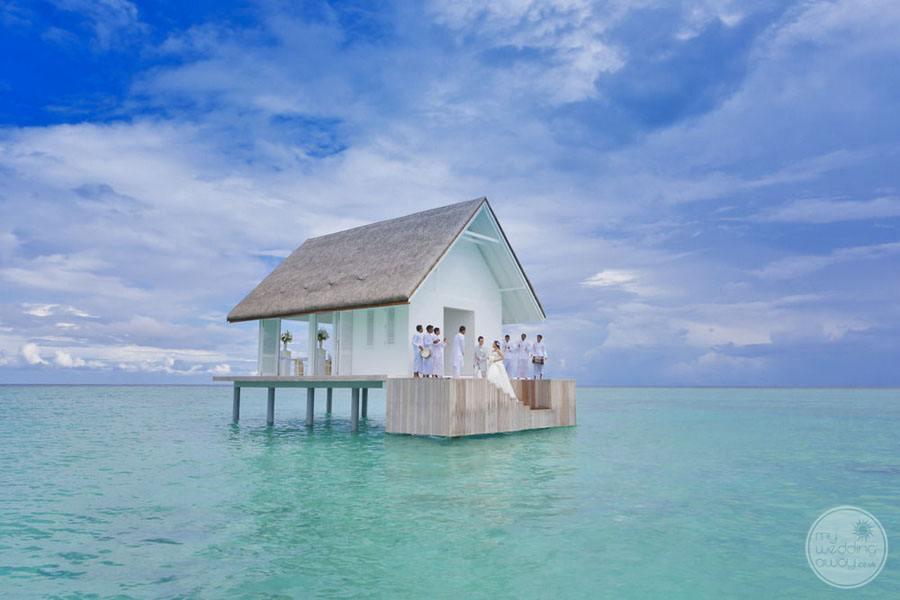 Four Seasons Maldives at Landaa Giraavaru Overwater Wedding Chapel
