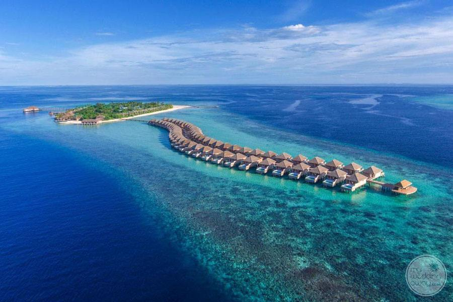 Hurawalhi Island Resort Ariel View of Resort