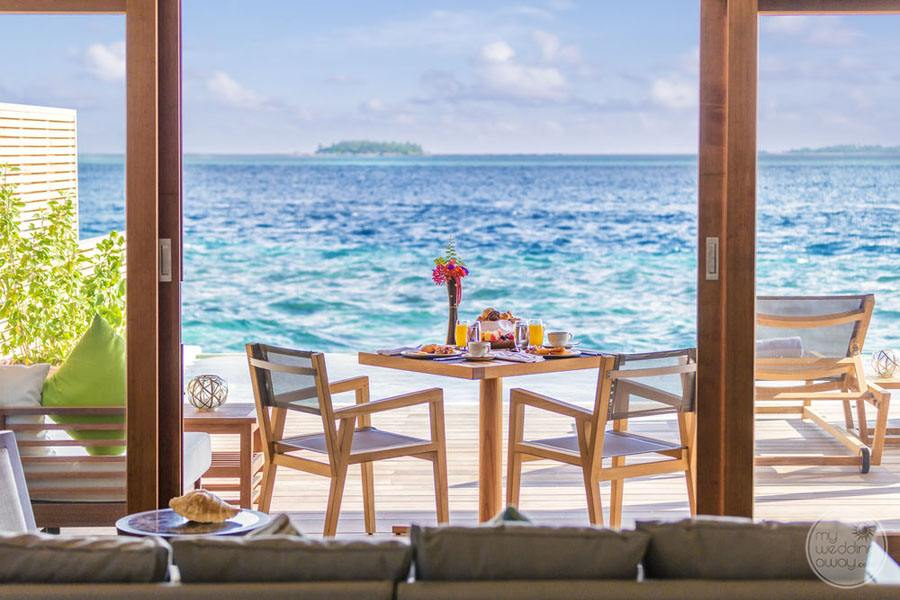 Hurawalhi Island Resort Oceanview from Lounge