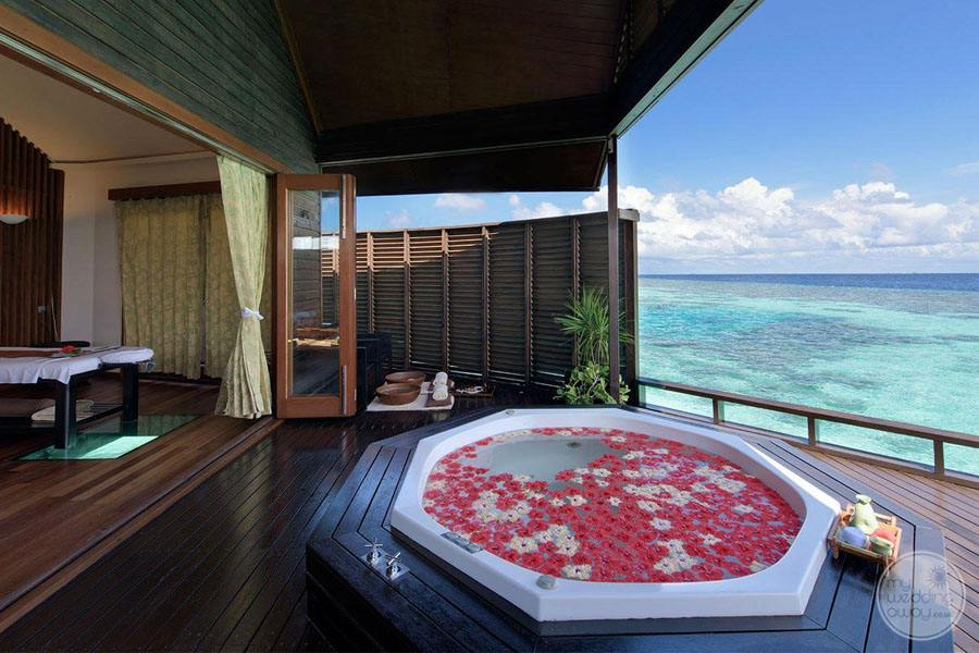 Jacuzzi on Deck of the overwater spa