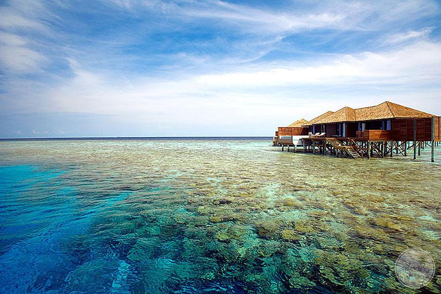 Resort Overwater Bungalow with view of the sea