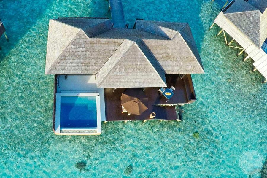 aerial View of rooms overlooking the ocean