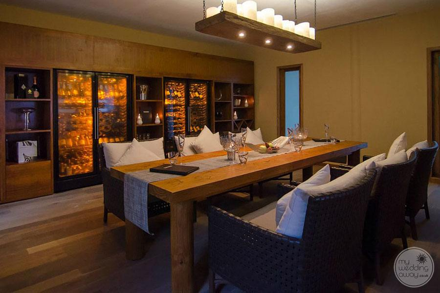 Resort Wine Lounge with table for private dining