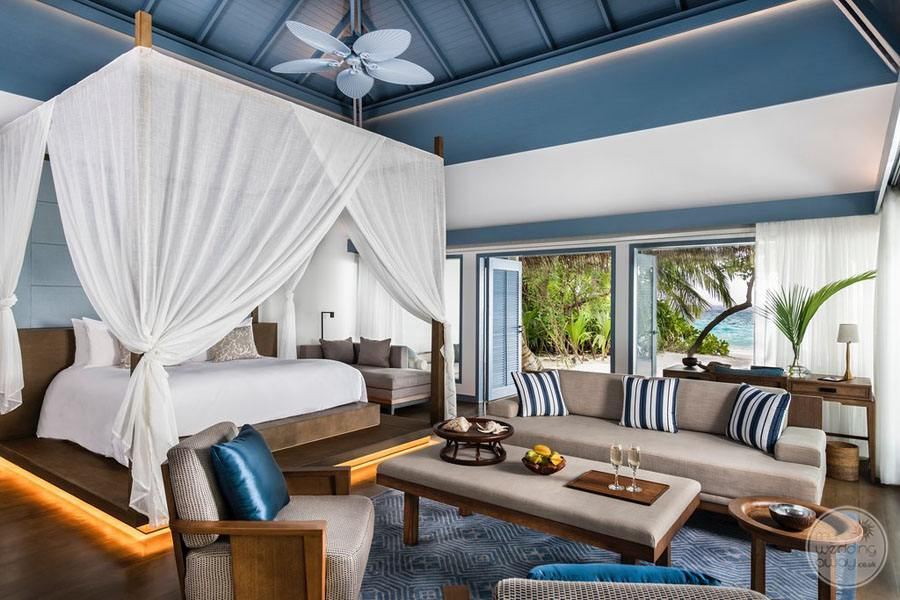 Beach Villa Bedroom Area with couch and chair