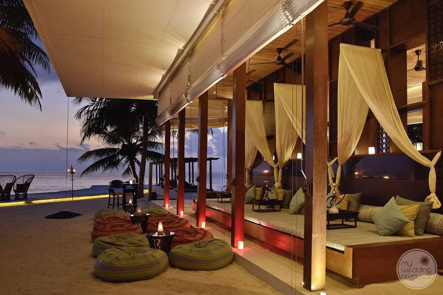 outdoor Lounge area in the evening