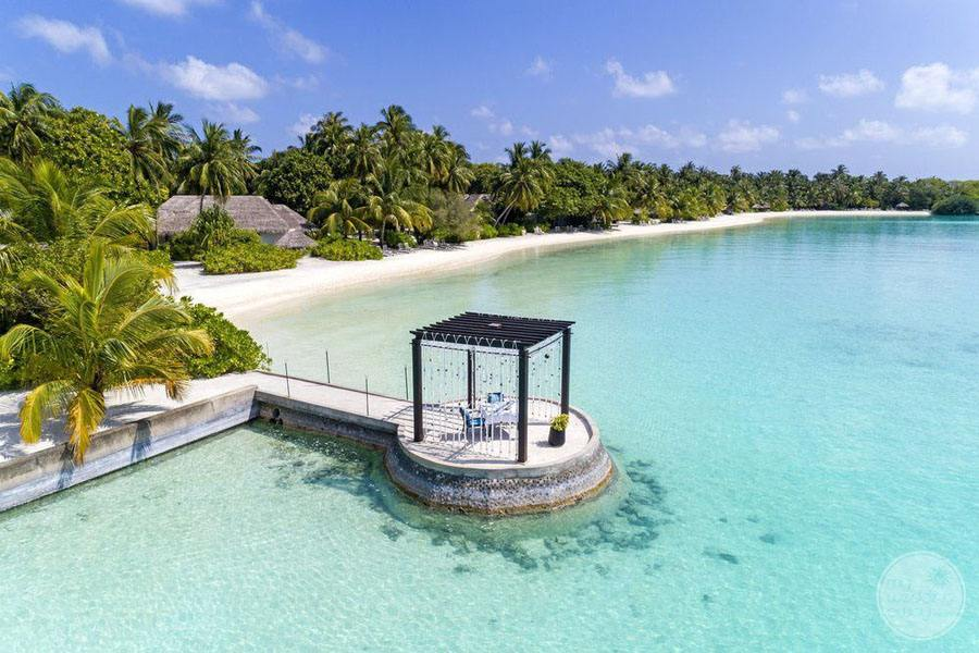 Sheraton Maldives Full Moon Resort and Spa Ariel View of Gazebo