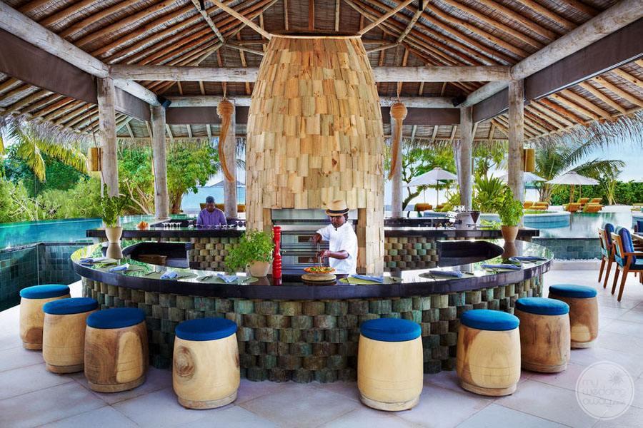 Six Senses Laamu Beach Bar Seating