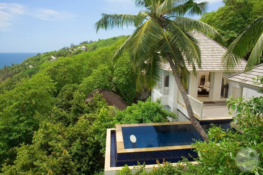 Banyan Tree Seychelles Plunge Pool Overlooking Ocean
