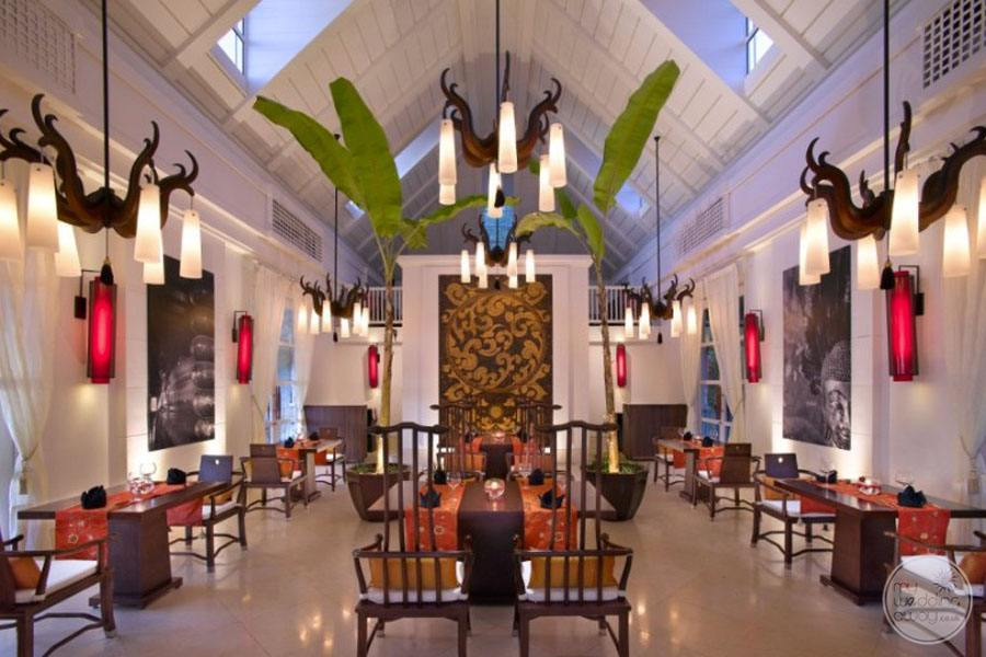 Resort Restaurant with decorative lighting