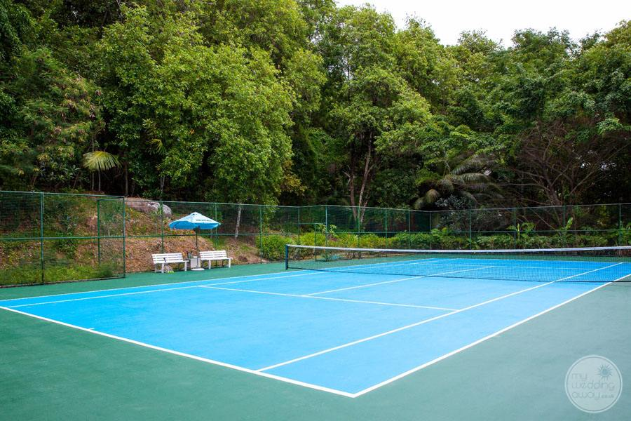 On property Tennis Court