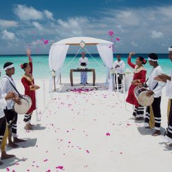 Baros Maldives Ready for the Wedding Ceremony
