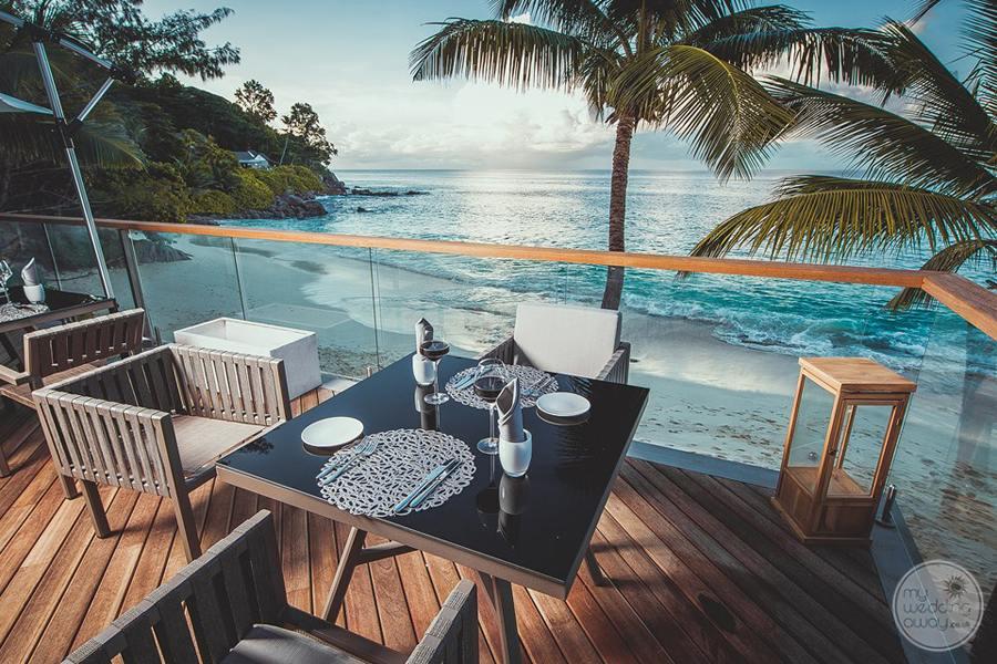 Carana Hilltop Villa Deck Overlooking Beach
