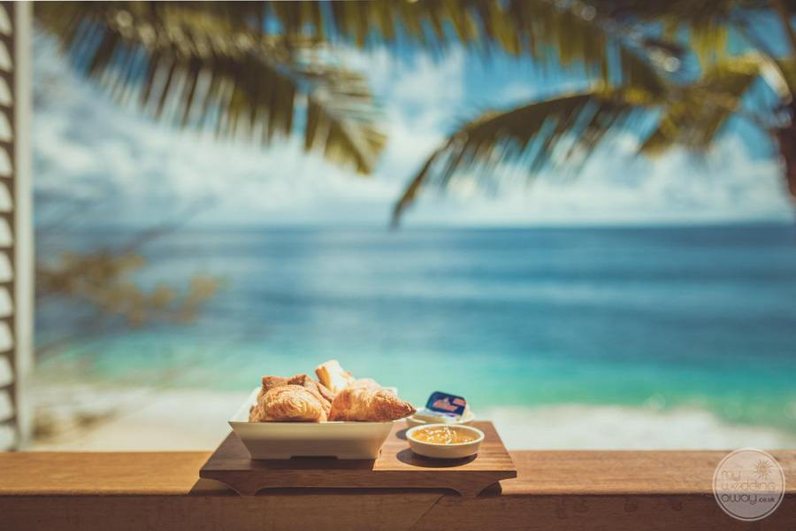 Resort Pastries served up with jam overlooking the ocean