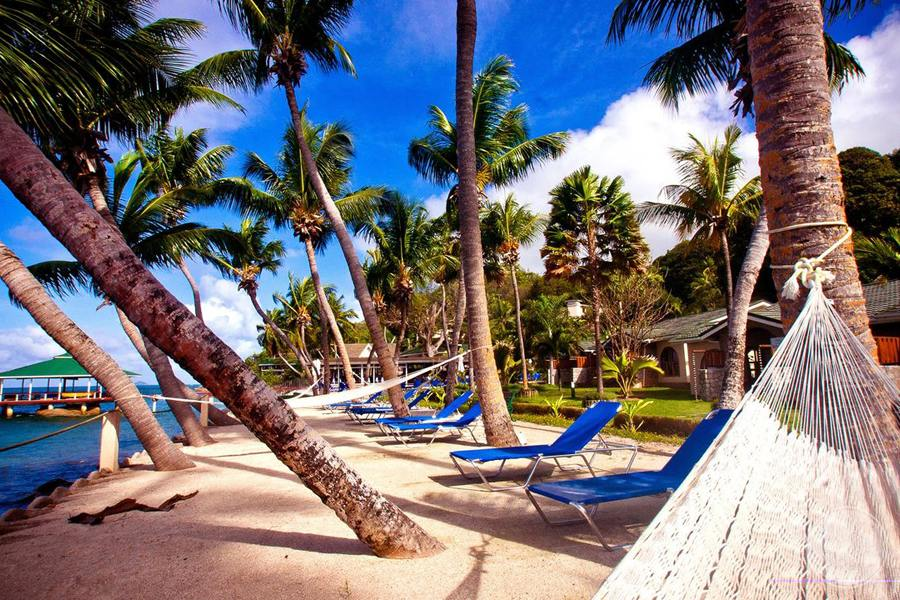 Beach Hammock and chairs located on the beach