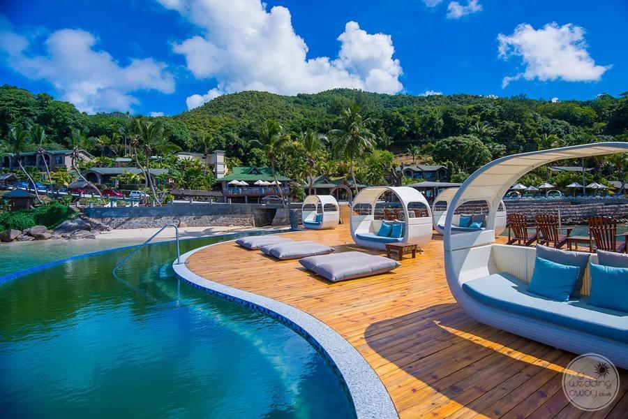 Coco de Mer Hotel View of Pavillion