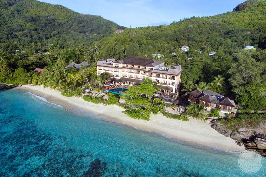 Arial Overview of beach and resort