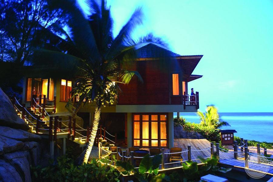 Doubletree by Hilton Seychelles Allamanda Resort and Spa exterior at night