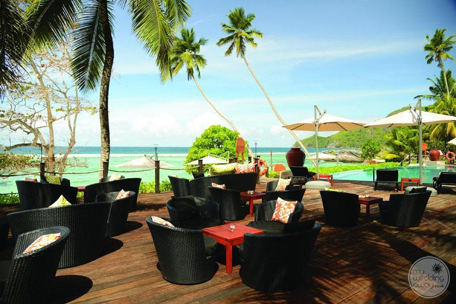 outdoor Lounge Chairs with beach view