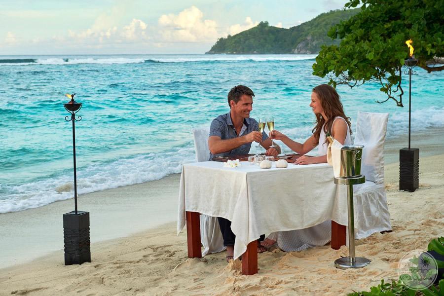 Doubletree by Hilton Seychelles Allamanda Resort and Spa romantic beach dinner