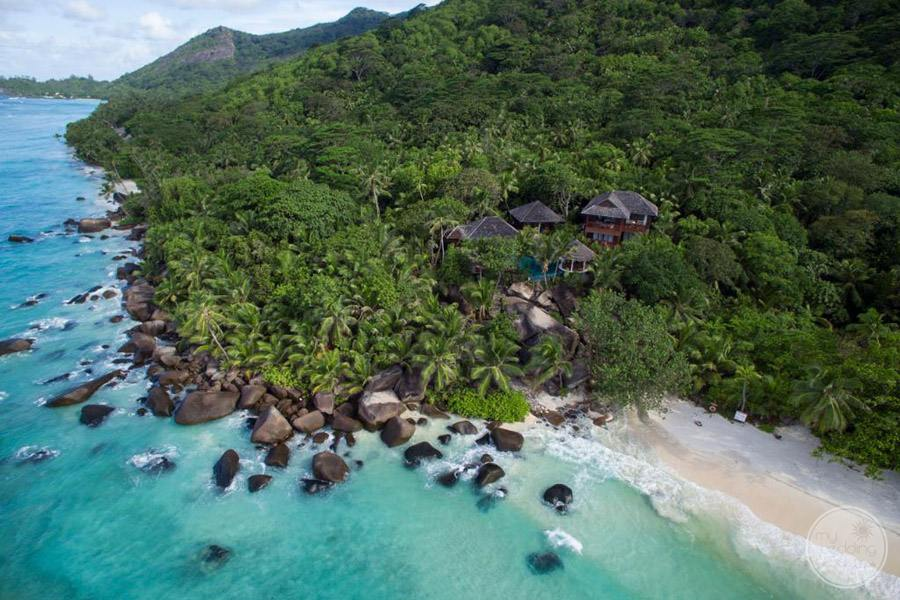 Hilton Seychelles Labriz Resort and Spa aerial view