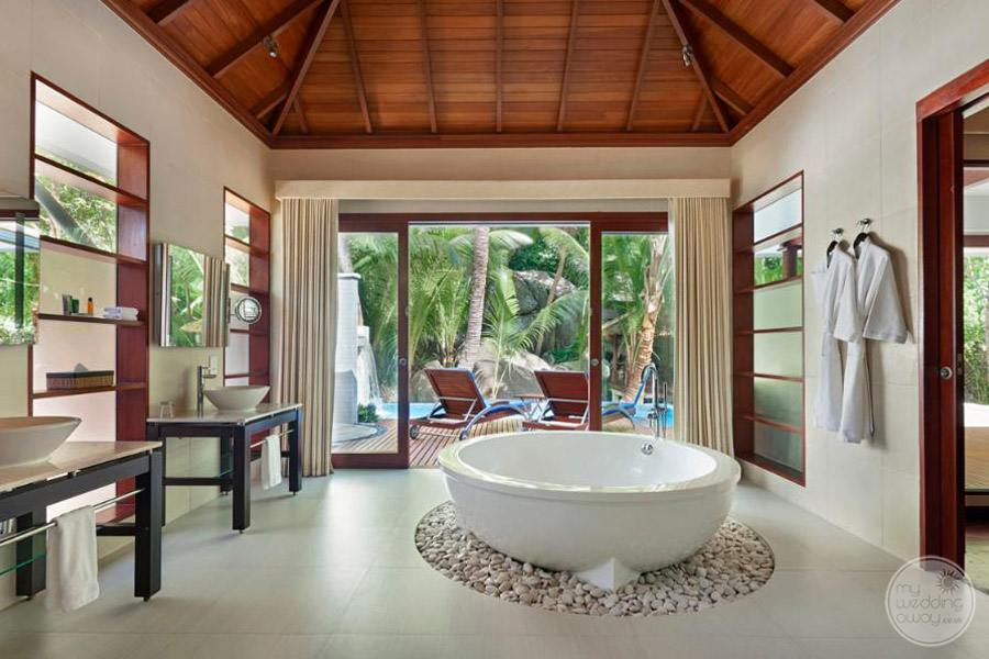 Hilton Seychelles Labriz Resort and Spa deluxe hillside pool room