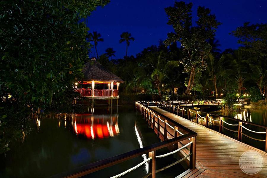Hilton Seychelles Labriz Resort and Spa view at night